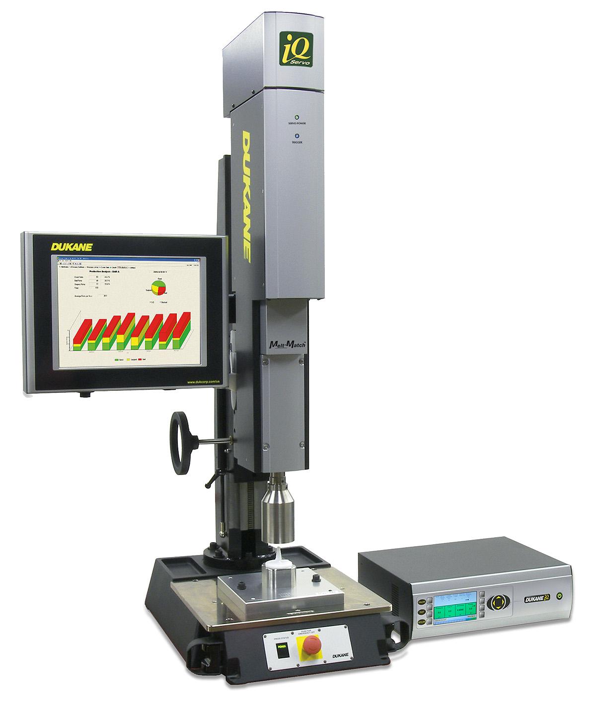 Dukane Ultrasonic Welding And Cutting Iq Servo Diagram Press